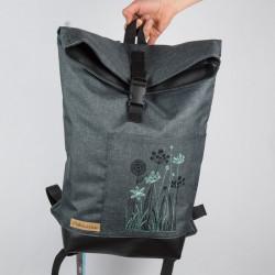 Městský batoh vyšívaný - s...